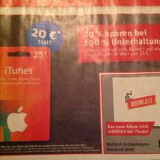 ITunes Card 20 % Rabatt