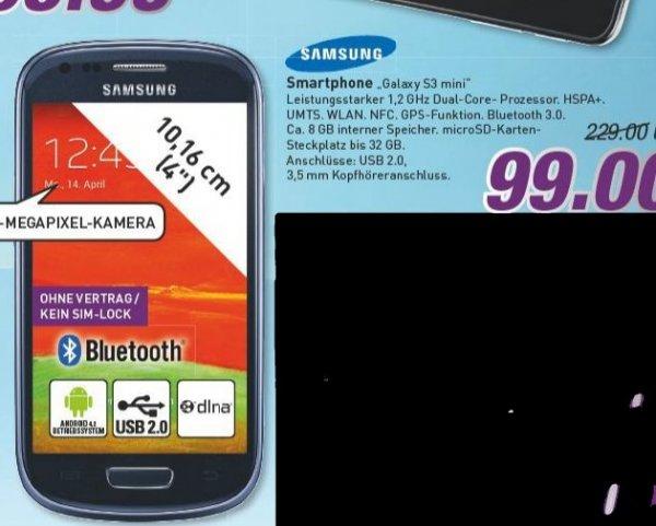 [Marktkauf evtl. nur regional Westfalen] Galaxy S3 Mini 8GB MIT NFC für 99€ (Idealo ab ~137€)