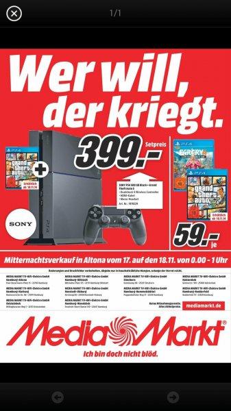 MM: PS4 und GTA 5 = 399 / GTA 5 oder FAR CRY 4 = 59 lokal Hamburg