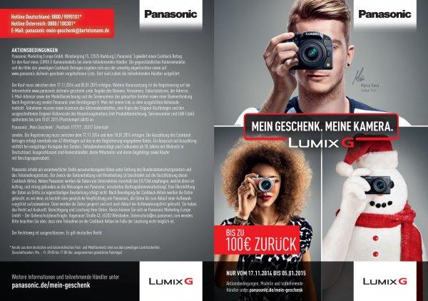 Panasonic Cashback-Aktion vom 17.11.2014 bis 05.01.2015 - Deutschland und Österreich