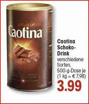 (EDEKA Südwest) KW47 CAOTINA 500g 3,99€ Angebot mit Coupies Cashback nur 2,99€