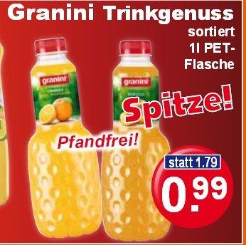 [K&K] Granini Trinkgenuss oder samtig und fein je Liter nur 0,99€