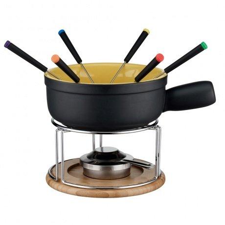 [Mediamarkt] ELO Keramik Käsefondue Set 10-teilig Schwarz / Gelb für 25€ (bei Abholung) ansonsten +4,99€ Versand