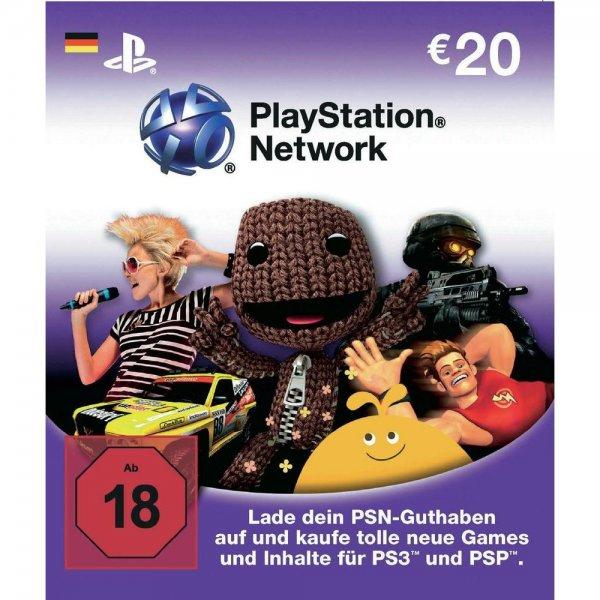 [Conrad] PSN Playstation Guthaben z.B. 20€ für 17,83€