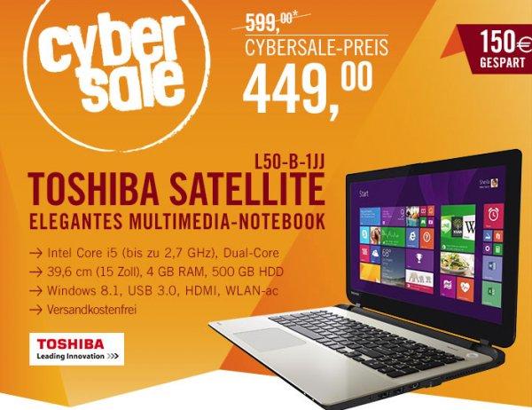 Toshiba Satellite L50-B-1JJ für 449€ @ Cyberport ab 9 Uhr