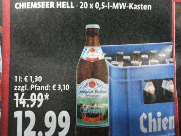 [Tengelmann] Chiemseer Hell 20x 0,5-l-MW-Kasten zzgl. Pfand