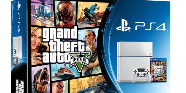 (Bundesweit Saturn) Playstation 4 weiß/schwarz + GTA V 399€