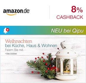 [QIPU] Amazon.de Cashback bei Qipu: 8% Cashback auf verschiedene Kategorien