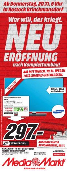 [Offline] TV Samsung UE40H5080 Mediamarkt Rostock für 297 EUR