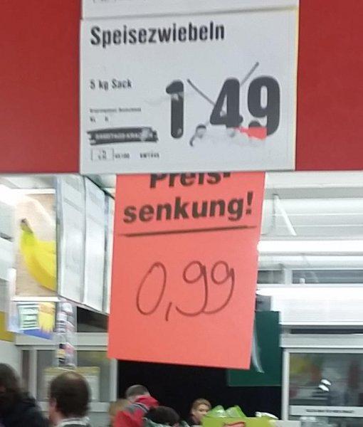 Netto Marken-Discount Zwiebeln 5 Kg 0,99€ [Lokal Aachen Schlossstraße]