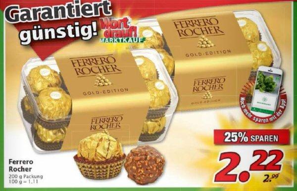 [Marktkauf Schweinfurt/Nürnberg/Hof] Ferrero Rocher 200 g 16 Kugeln für 1,82 €