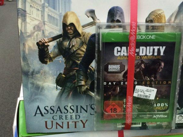 [Lokal Aalen Media Markt] X Box One (wahrscheinlich ohne Kinect) Assassins Creed Unity + Call of Duty Advanced Warfare