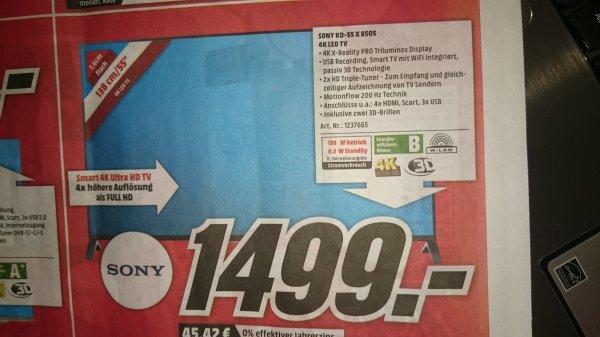 Lokal @MediaMarkt Sulzbach MTZ Sony KDL 55X8505
