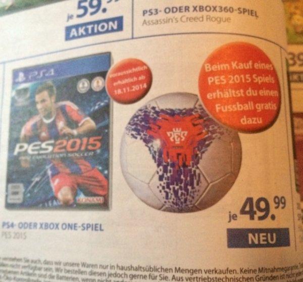 PES2015 Xbox one / PS4 + gratis Fussball