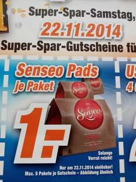 (Lokal Expert Bonn, Bad Honnef und Wittlich) Senseo Pads für 1 Euro,In-Ear Kopfhörer 2 Euro,USB Stick 4GB 2 Euro