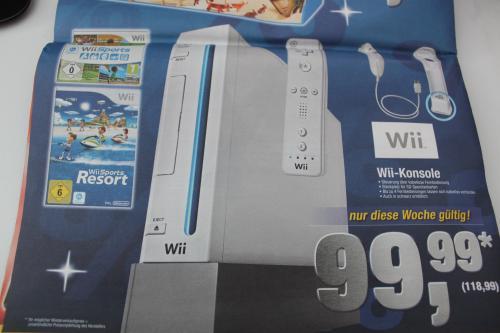 Nintendo Wii (white/black) mit Sports und Sports Resort - nur bis 28.09.