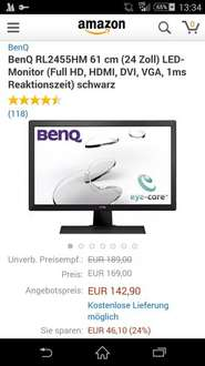 BenQ RL2455HM @Amazon Blitzangebote
