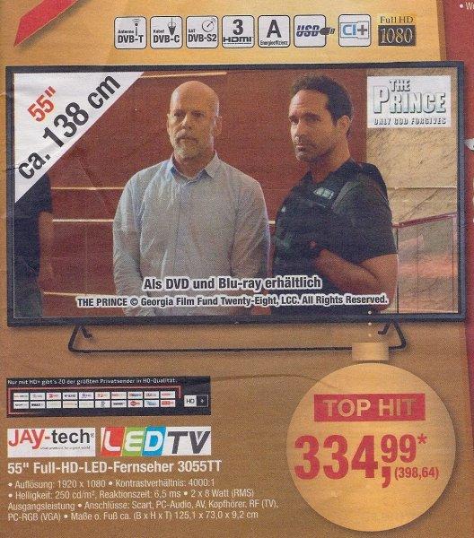 [METRO] JAY-tech 55'' FullHD LED TV mit Triple Tuner für  398,64€