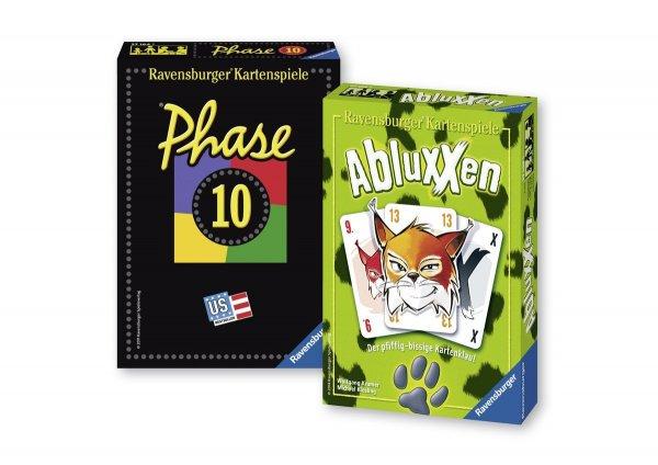 @Amazon: Ravensburger 81883: Phase 10 und Abluxxen Kartenspiel für Zusammen 11,99€ PRIME- fähig
