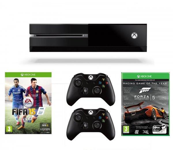 XBOX ONE Bundle inkl. 2 Controller, FIFA 15 und Forza 5: GOTY Edition