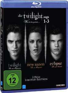 [Amazon.de] Die Twilight Saga 1-3 Limited Edition Blu-Ray - PRIME Angebot