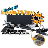 1000mAh USB Joye eGo-T Starter Kit met B-Type Atomizers -