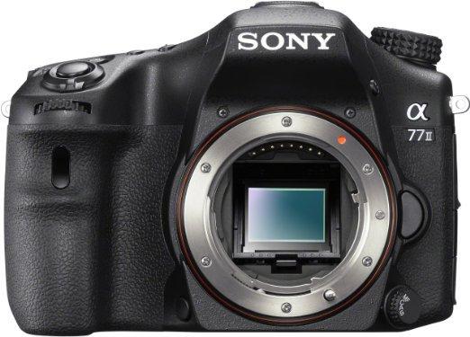 Sony ILCA Alpha 77 II SLR-Digitalkamera (24,3 Megapixel EXMOR APS-C CMOS-Sensor, 7,6 cm (3 Zoll) LCD-Display, XGA, 79-Phasen AF-Messfelder, 12 Bilder/Sek, Full HD, WiFi / NFC, HDMI) mit OLED-Sucher und Autofokus