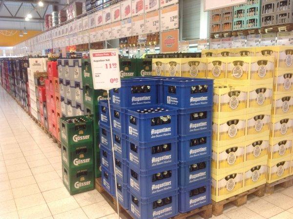 Augustiner Bier für 11,99€ der Kasten im Globus Freilassing