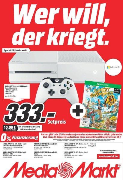 [LOKAL] MM München Xbox One (weiß) + Sunset Overdrive für 333€