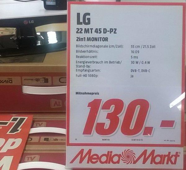 """[MM Berlin Charlottenburg] LG 22MT45D-PZ, 21.5"""" FullHD Monitor / TV (DVB-T/C/HD) für 130.- statt 170.-"""