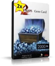 Guild Wars 2 – 2 × 2000 Gems Card = 4000 Gems für 42,60€ – MsPoints.de