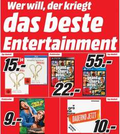[Lokal Berlin] Media-Markt Entertainment Prospekt (Blu-Rays zu 5€, Iron Man Trilogie Blu Ray 10€, Games ohne Ende usw.)
