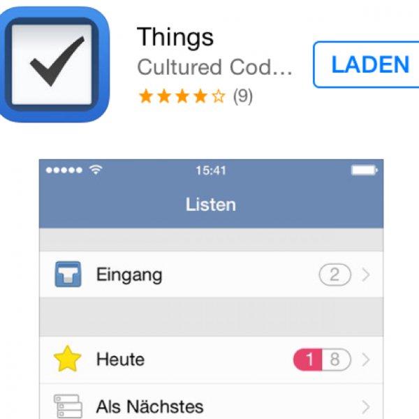 [iOS] Things gratis statt 8,99€ (iPhone) bzw. 17,99€ (iPad)
