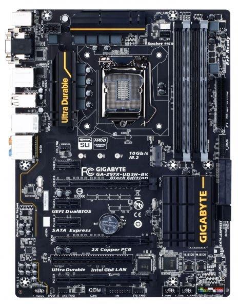 Gigabyte GA-Z97X-UD3H-BK Black Edition Z97 Sockel @HomeOfHardware 119€