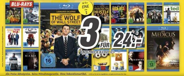 [Bundesweit] 3 Blu Rays für 24.- € Aktion bei Medimax mit einigen sehr guten Titeln!