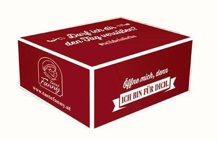 Keks-Schachtel mit Rezeptheft & Sticker
