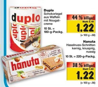 [KAUFLAND Bundesweit; KW48] Duplo und Hanuta Super-Weekend für 1,22€