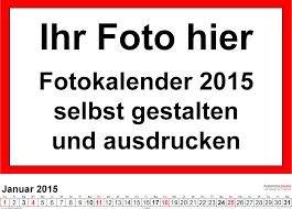 Kostenlos: Fotokalender für 2015, selbst online gestalten & ausdrucken