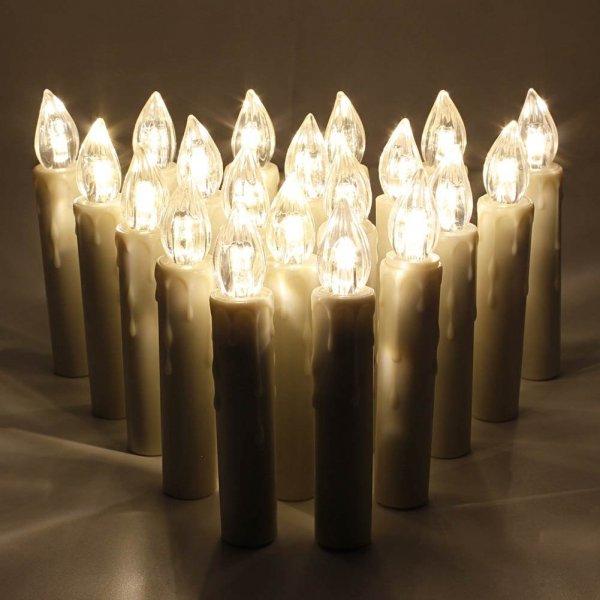 @Amazon 20 Batteriebetriebene LED-Weihnachtskerzen + Kostenlose Zugaben