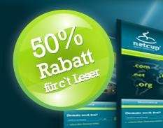 Dauerhaft 50 % Rabatt auf Webhosting