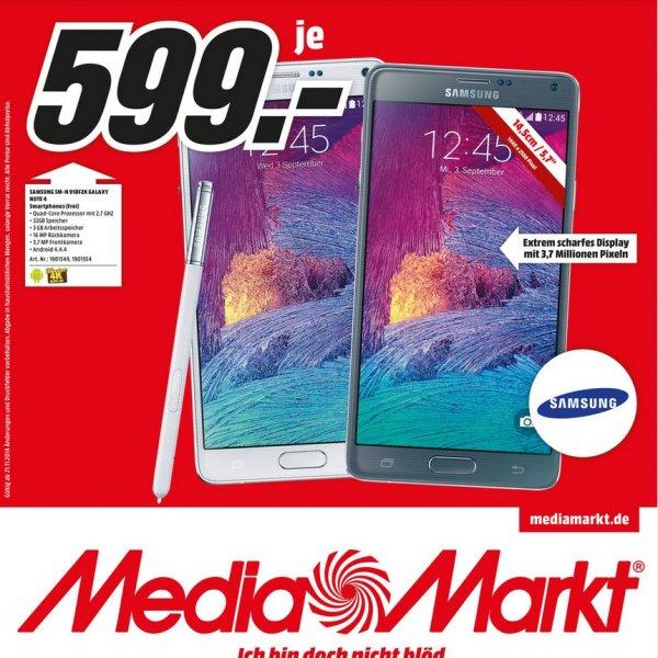 Samsung Galaxy Note 4 für 599€ LOKAL @ Mediamarkt Weiterstadt