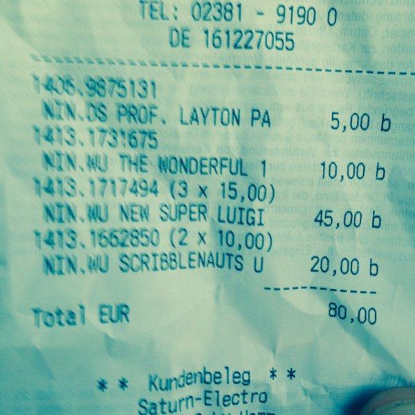 Super Luigi U 15€, Scribblenauts Unlimited Wii U + 3DS 10€, Prof layton ds 5€, wonderful 101 10€ uvm. saturn hamm