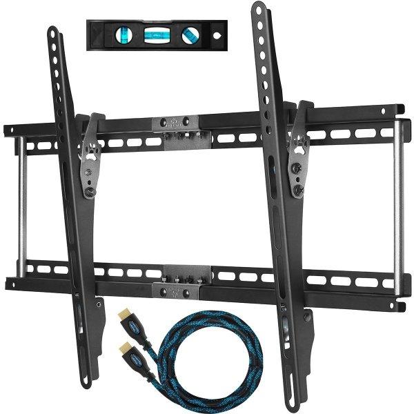 """APTMM2B TV Wandhalterung Neigbar für 80- 165cm (32- 65"""") LCD, LED Flachbildschirme mit VESA max. 648x400 und max. 75KG. Halterung beinhaltet 3m Hochgeschwindigkeits HDMI Kabel mit Ethernet und Strapazierfähigem Gewebemantel und 15cm Magnetische 3 Ac"""