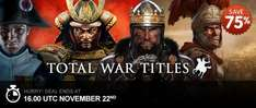 Total War Titel @GMG 75 % off  zb Rome: Total War Collection