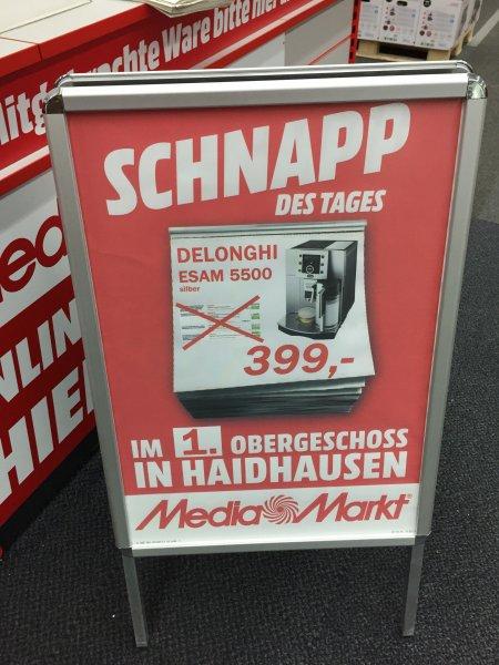 DeLonghi399€ ESAM 5500 Titaniumoptik Kaffee-Vollautomat media markt Heidhausen Einsteinstr 130 München