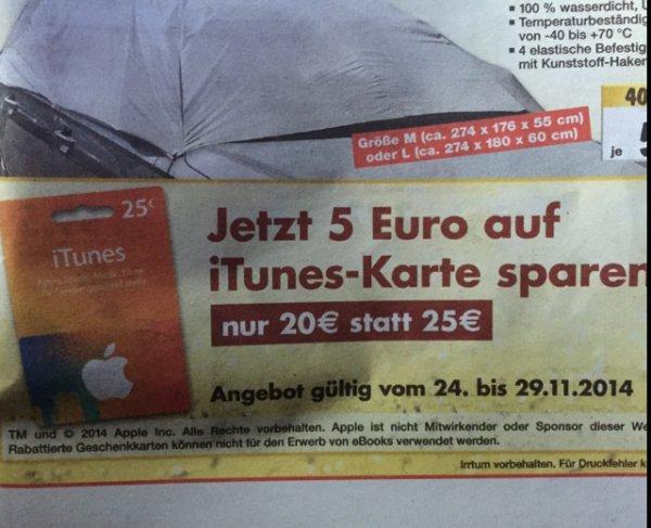 20€ ITunes Karte 25€ für 20€ 20% Kaufland vom 24.11-29.11