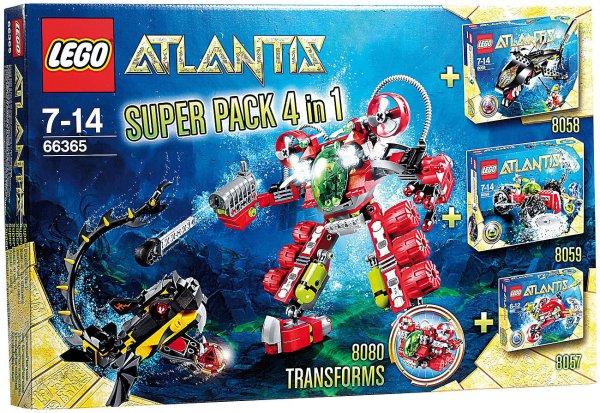 LEGO 66365 Atlantis Superpack 4in1 für 49,90 + 10% Rabatt mit CSPIELZEUG14 Code @ebay