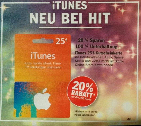[Hit NRW] 20% Rabatt auf 25€ ITunes Karte - 24.11-29.11