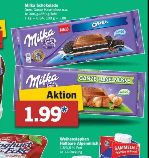 Lidl Bundesweit Milka Schokolade Oreo für 1,99,- vom 27.11. bis 29.11.