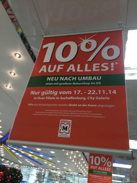 lokal Müller City Galerie Aschaffenburg 10% Rabatt